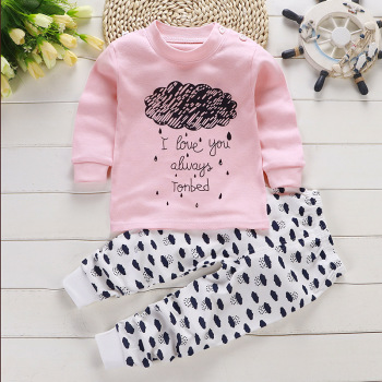 цены 2pcs Autumn Winter Baby Girls Boys Clothes Cartoon Long-Sleeve T-Shirt + Pant Suit Girls Clothing Set Children Clothing