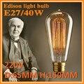 E27 ST64  vintage Retor lamps 220V 40W Incandescent lamp Fixtures lamp For Pendant Lamps