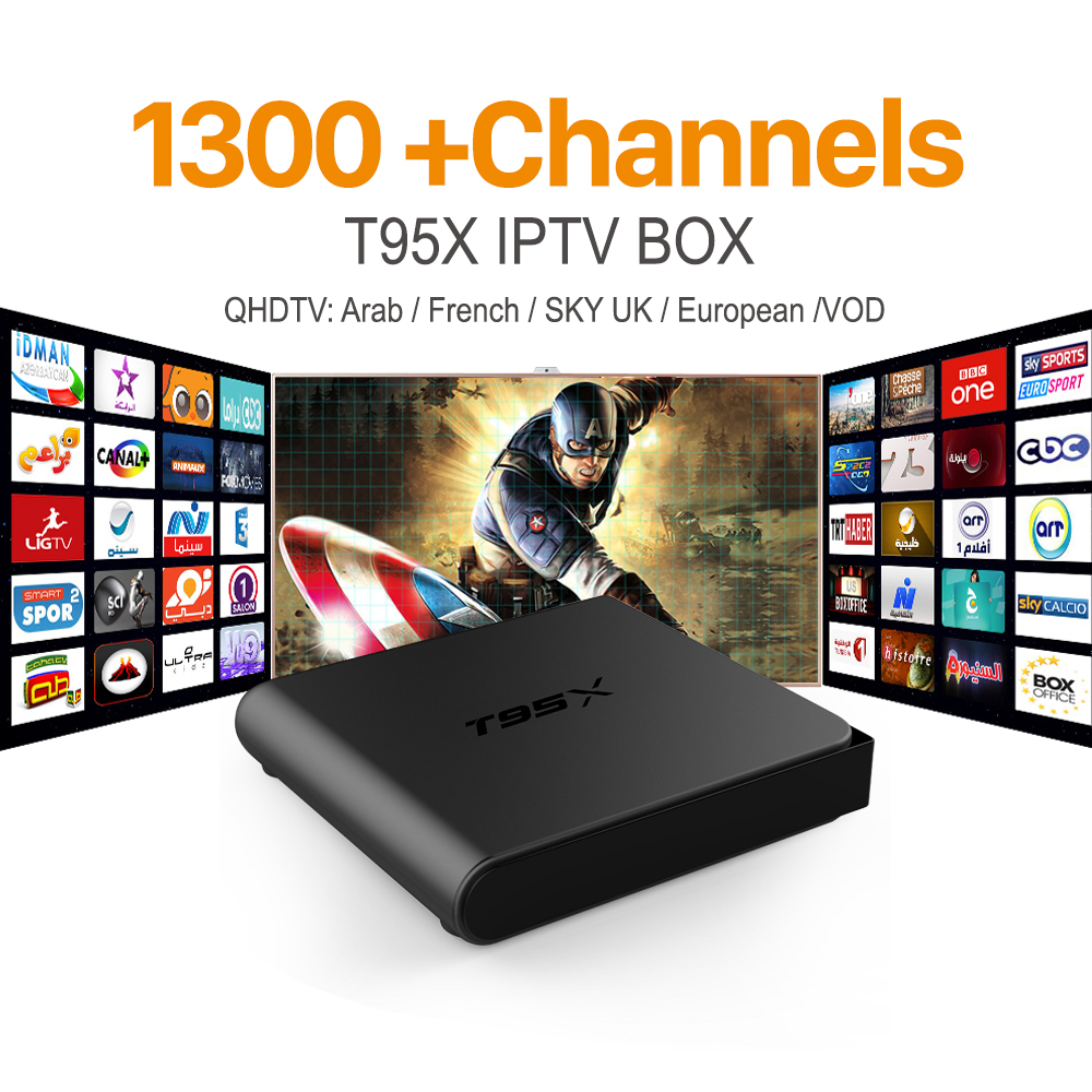 ФОТО European IPTV Box Android TV Box Sky IPTV Receiver & 1300+Sky French Turkish Netherlands Channels Better Than MXV Android TV Box