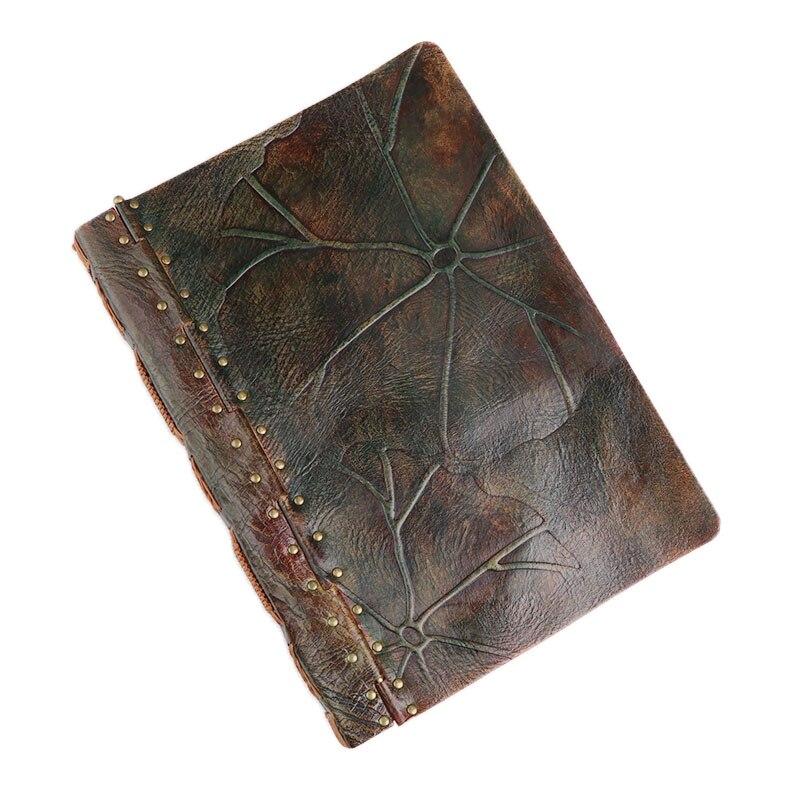 100% véritable cuir fait à la main A4 Vintage rétro voyage Journal Journal carnet bloc-notes anniversaire saint valentin cadeau BJB55