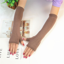 Women Summer UV Arm Warmers Set Solid Color No Toe Sunscreen Cotton Driving Protection Elastic Long Sleeve