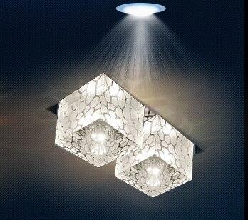 Colorpai современные светодиодные лампы кристалла 6 Вт проходов коридор огни встраиваемые потолка Подпушка входные огни Освещение в гостиную ...