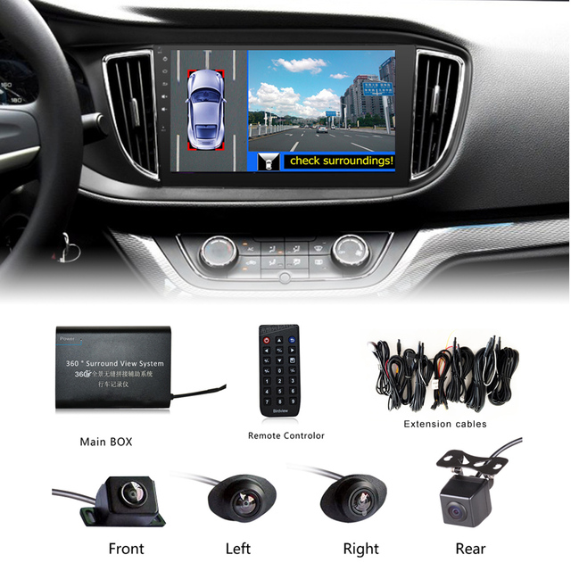 buy universal 360 degree car security camera car parking system with car dvr. Black Bedroom Furniture Sets. Home Design Ideas