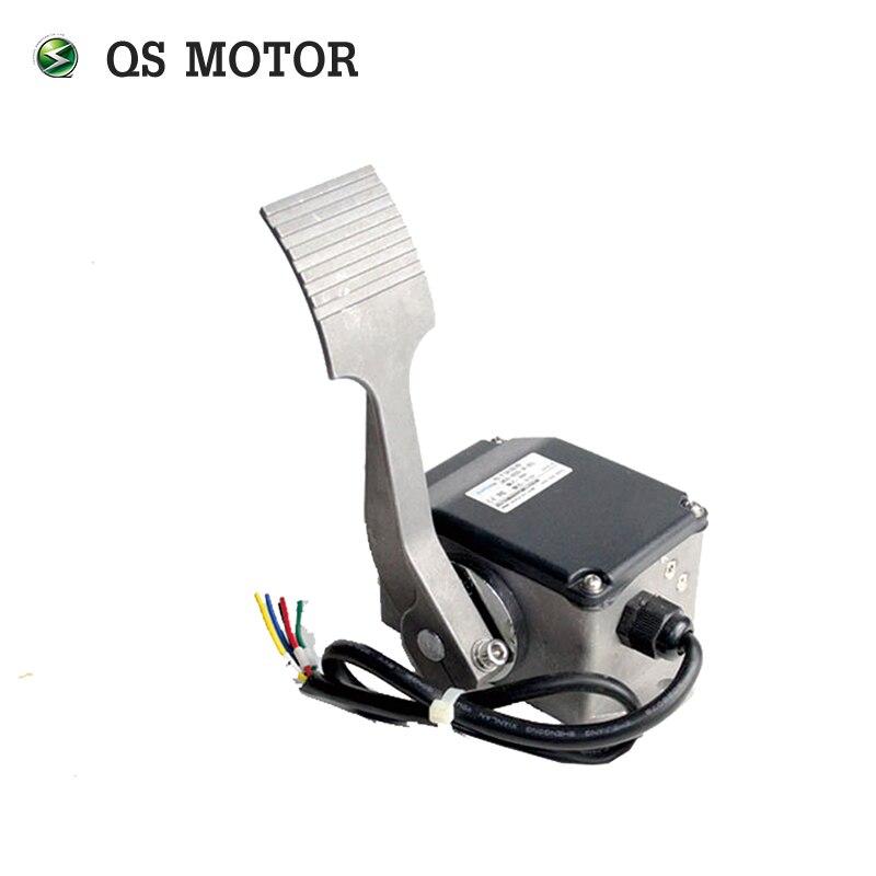 Купить с кэшбэком QSMOTOR dual 8000W 273 50H V3 brushless electric car hub motor conversion kits with APT controller