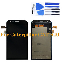캐터필라 cat s40 lcd 디스플레이 (터치 스크린 디지타이저 구성 요소 디스플레이 유닛 교체 스크린 어셈블리 포함)