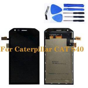 Image 1 - Pour laffichage à cristaux liquides de Caterpillar CAT S40 avec lassemblage décran de remplacement de composant de numériseur décran tactile