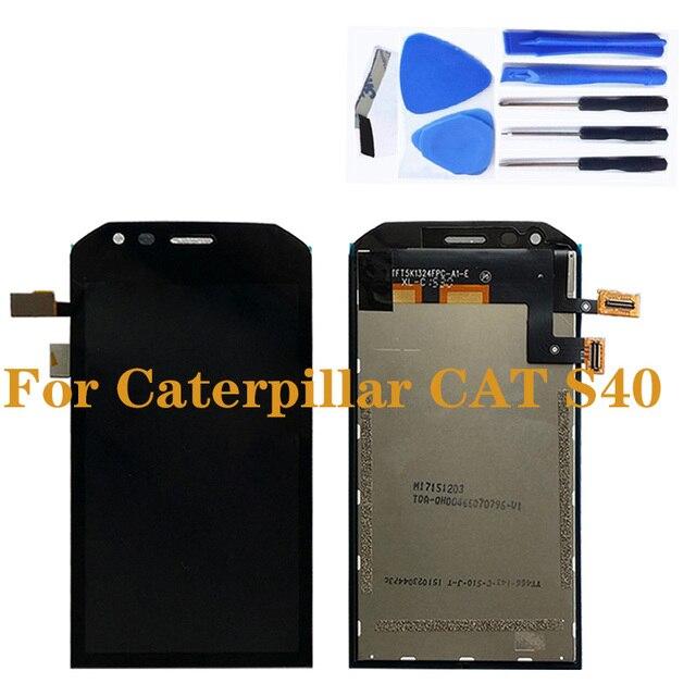 Pour laffichage à cristaux liquides de Caterpillar CAT S40 avec lassemblage décran de remplacement de composant de numériseur décran tactile