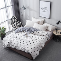 Moderm simple style black Wave point white Bedding boy/adult/ Home Textile 100%Cotton 1pcs Duvet Cover twin Full Queen King Size