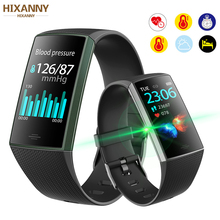 цена на Smart Bracelet Watch Men Women  Heart Rate Monitor Fitness Tracker Blood Pressure Oxygen Monitor For ios Android  Pk  mi band 4