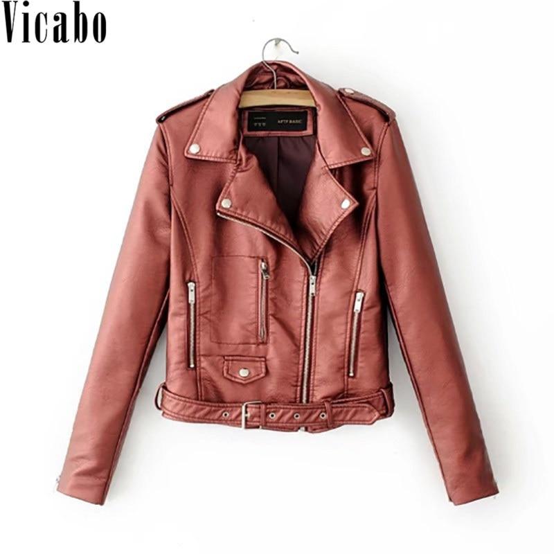 Viacbo Winter Short Faux Soft   Leather   Jacket Women Fashion Zipper Motorcycle Coats Female Streetwear PU   Leather   Biker Jacket