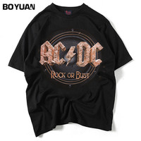 BOYUAN New Hip Hop Letters Printed 2018 Summer T Shirt Men Short Sleeve O Neck Streetwear