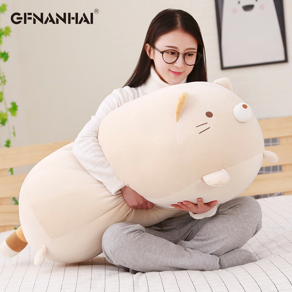 1pc 90cm 귀여운 코너 바이오 베개 일본 애니메이션 sumikko gurashi 봉제 인형 아기 소녀 선물을위한 부드러운 발렌타인 선물