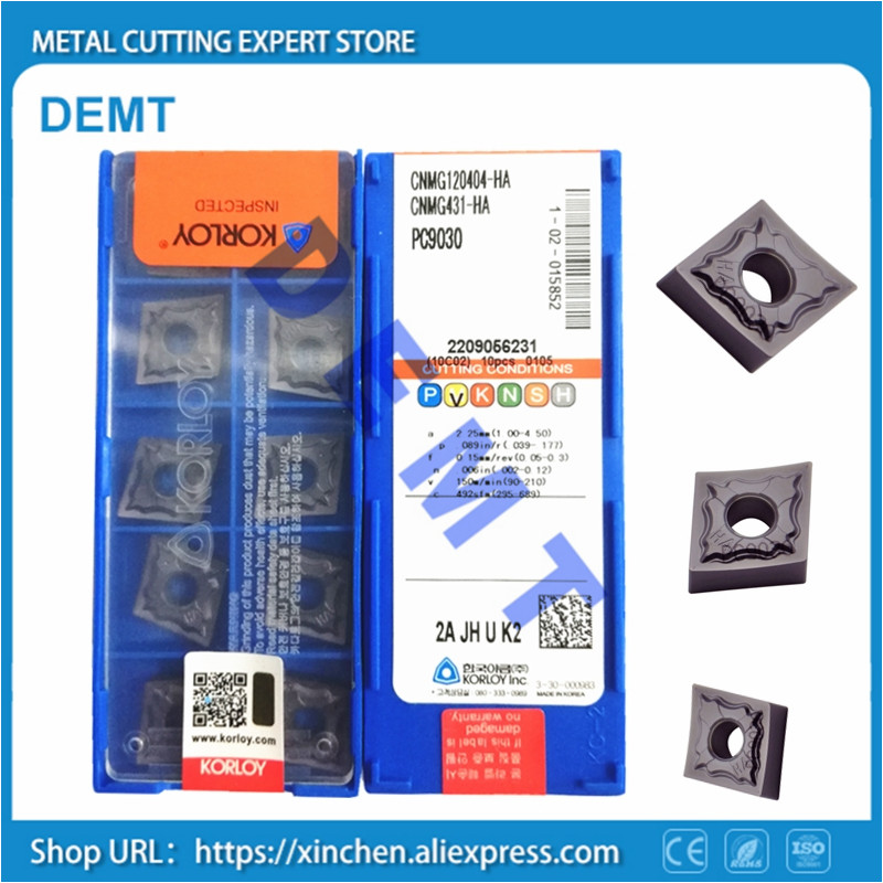 10pcs CNMG120404-GS PC9030 CNMG431-GS PC9030 superb quality alloy carbide insert