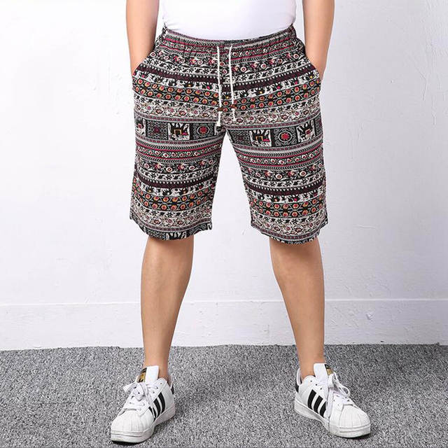 63cfee5d9c Cheap Wholesale Africa Tribal Pattern Clothing Linen Drawstring Traditional  African Print Shorts Men Plus Size 5XL