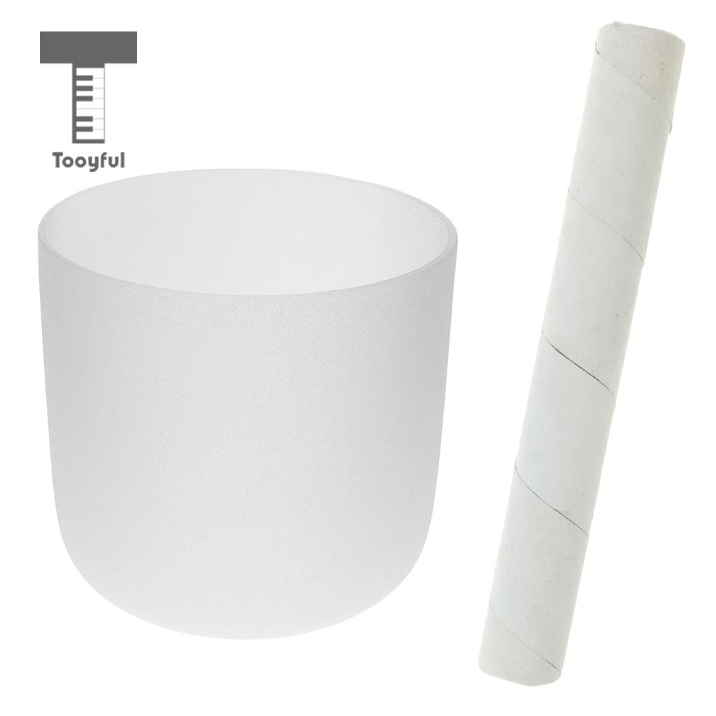 Tooyful Crystal Singing Bowl C Note for Root Chakra Frosted Quartz 6 Inch White w/ Suede Striker for Meditation Relax fender squier jim root telecaster flat white
