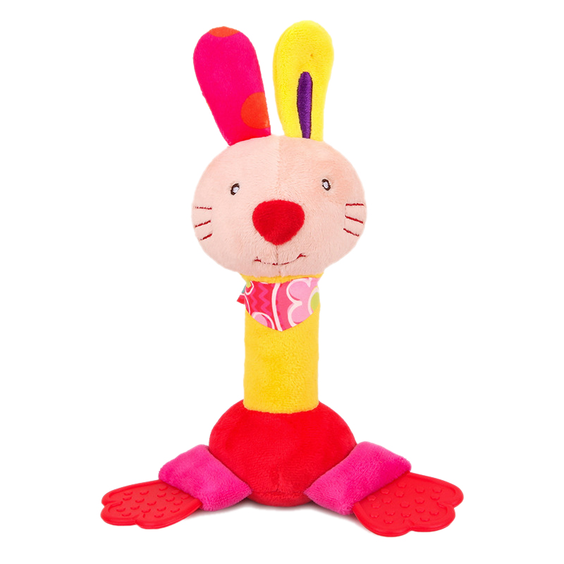 ZOOTime Kinds Baby Rattle Toys Cartoon Animal Cute Hand Grasp Plush Rattle Bb Stick With Gutta Rattletoy Infant Educational Ea