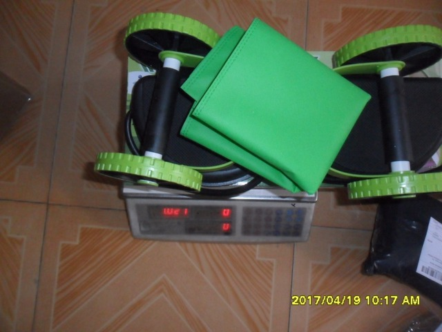 Ab Roller Wheel with Mat Abdominal Trainer Wheel Arm Waist Leg Exercise Multi-functional Fitness Equipment Exercise 3