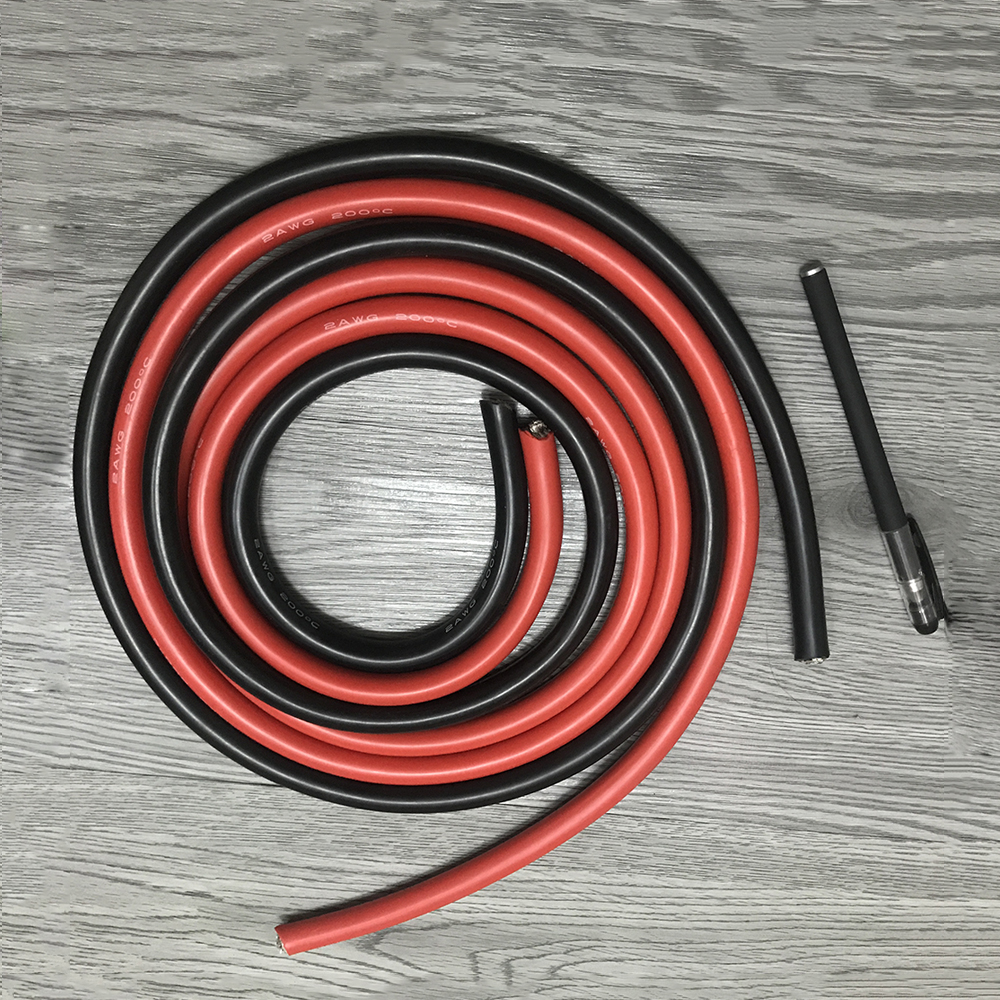 Original 2 AWG Silicone Cables Red Black Soft Tinned Copper Wire ...