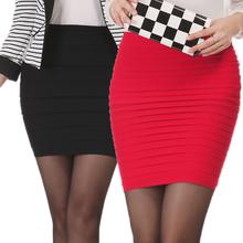 Spring Summer Women High Waist Tight Office Skirt Slim Casual Package Hip Skirt Good Elastic Lady