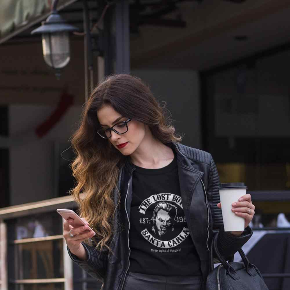 Motorcycle T-Shirt The Lost Boys Motorcycle Club T Shirt O Neck Cotton Women tshirt Printed Plus Size Ladies Tee Shirt