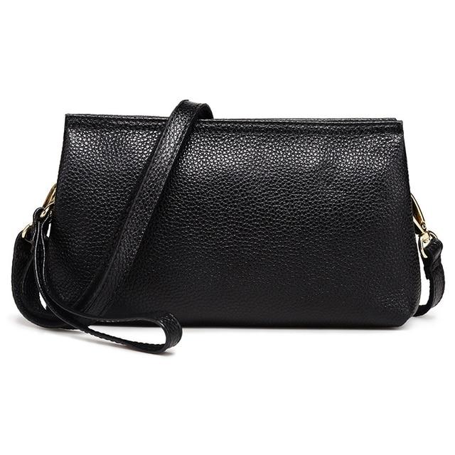 9f40524be84f Female clutch bag 2017 famous designer women handbags genuine leather wild crossbody  bag shoulder bag Messenger bag lady purse