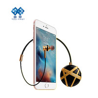 Long Standby Noise Canceling Necklace Earbuds Business Sport Anti Lost Wireless Bluetooth Earphone For Mobile Cell