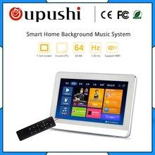 OUPUSHI A7 7 дюймов сенсорный экран усилитель мощности стены amplifer с Wi-Fi/Bluetooth/MP3/Remote