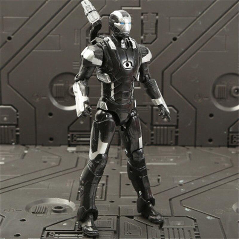 Marvel Мстители 3 Бесконечность войны фильм Аниме Супер Герои Капитан Америка, железный человек, Халк Тор супергерой Фигурки игрушки - Цвет: James Rhodes
