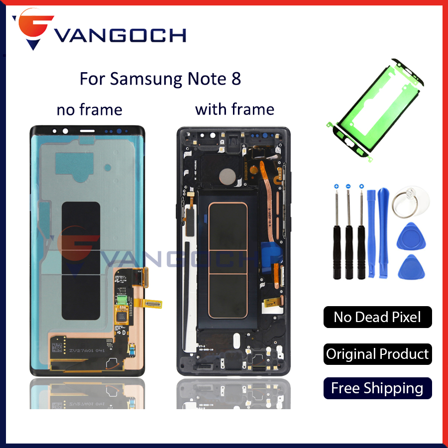 Lcd originale Per Samsung Nota 8 Display Lcd Touch Screen Digitizer Assembly Per Samsung Note8 N9500 6.3 pollice di trasporto libero