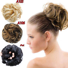 HiDoLA Curly Chignon with Rubber Band Hair Extensions High Temperature Fiber Synthetic Hair Bag for Women недорого