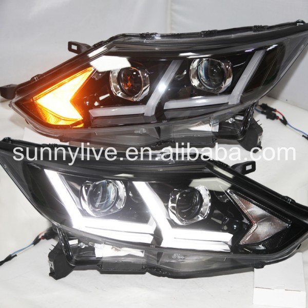 For Nissan Dualis Qashqai LED Head Lamp for NISSAN 2016 LF