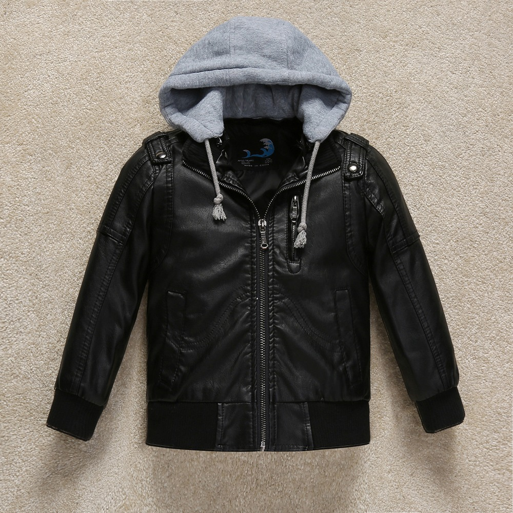 2ca1b73cfba5 Budermmy 2018 Spring Fashion Leather Boys Jacket Brand Design Infant ...