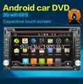 Универсальный 2 din Android 6.0 dvd-плеер Автомобиля GPS + Wi-Fi + Bluetooth + Радио + 1.2 ГБ CPU + DDR3 + Емкостный Сенсорный Экран + wifi + пк автомобиля + аудио
