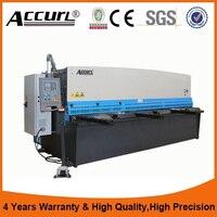 Accurl 3 2m Width 12mm Thick Hydraulic Drive Swing Beam Shear Plate Material Cutting Machine