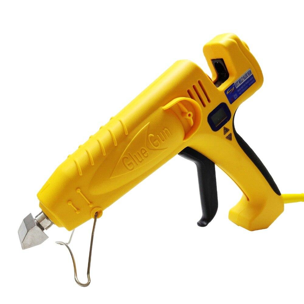 500 W UE/EUA de Alta Potência Pistola de Cola Quente Temperatura Ajustável Display Digital Graft Reparação Ferramentas de Cola de Calor arma, frete Grátis