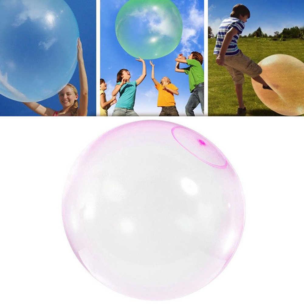 Increíble Bola de burbuja, bola inflable, bola firme, juguetes para niños, burbuja transparente de látex de Color aleatorio cómoda