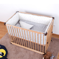 Комплект постельного белья для малышей, 4 шт., детская кроватка, 100% хлопковые Защитные подушки, мягкий безопасный, защитный, милый, мультяшны