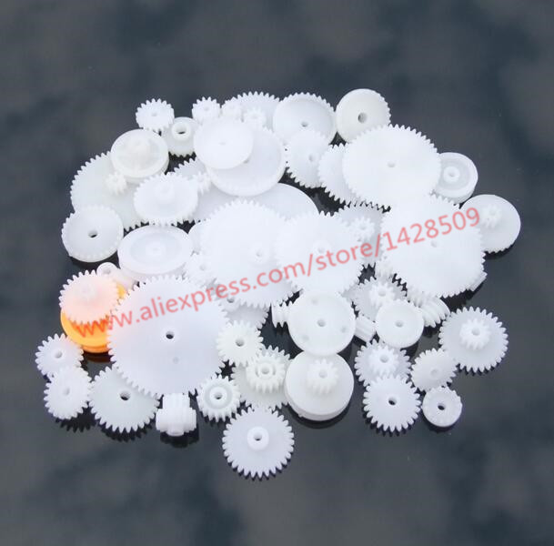 64pcs High Quality Plastic Shaft Single Double Layer Crown Worm Gears For Robot DIY