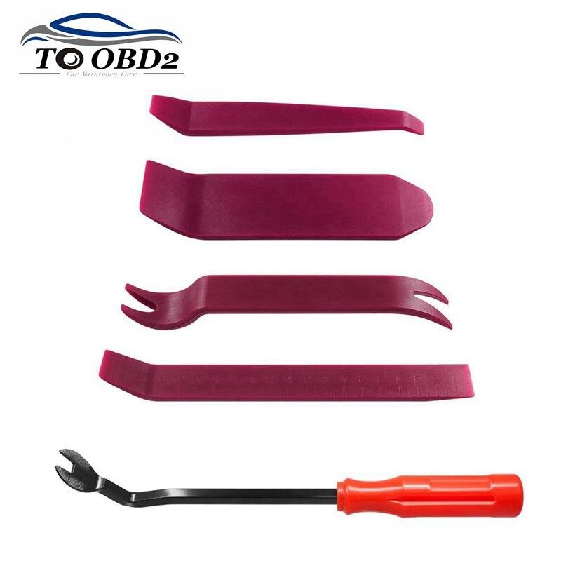 Toolzone 3pc Car Door Interior Upholstery Panel Trim Fastening Clip Remover Set