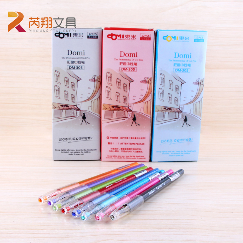 Korean Creative Stationery 8 Colors Gel Pen Diamond Head Refills Netural Pens 0.5mm for Student Office and School Supplies refills for preventa mmf kable and sentry counter pens 2 pack [set of 3]