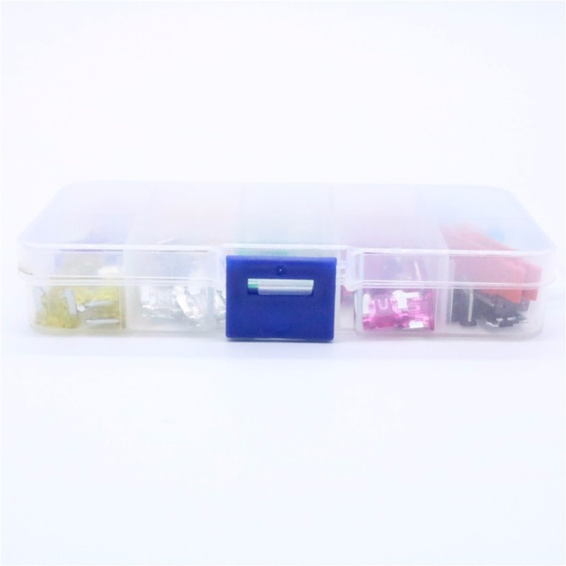 100Pcs Assorted Car Truck Mini Low Profile Fuse Micro Blade Fuse Set Kit