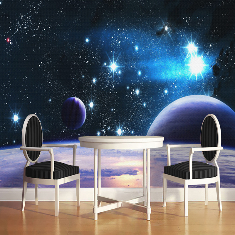 Custom Wall Mural Wall Papers Home Decor Living Room Bedroom Universe Space Star Planet Photography Background Photo Wallpaper