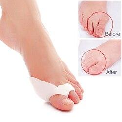1 пара корректор для косточки на ноге, ортопедическая силиконовая большая разделитель пальцев при Наросте корректор для педикюра, инструме...