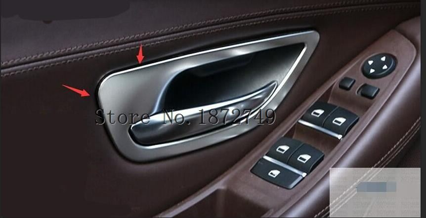 <font><b>3</b></font> Model For Choice! For BMW <font><b>5</b></font> series F10 2011 - 2014 Stainless Steel Inner Door Handle Bowl Cover Trim image