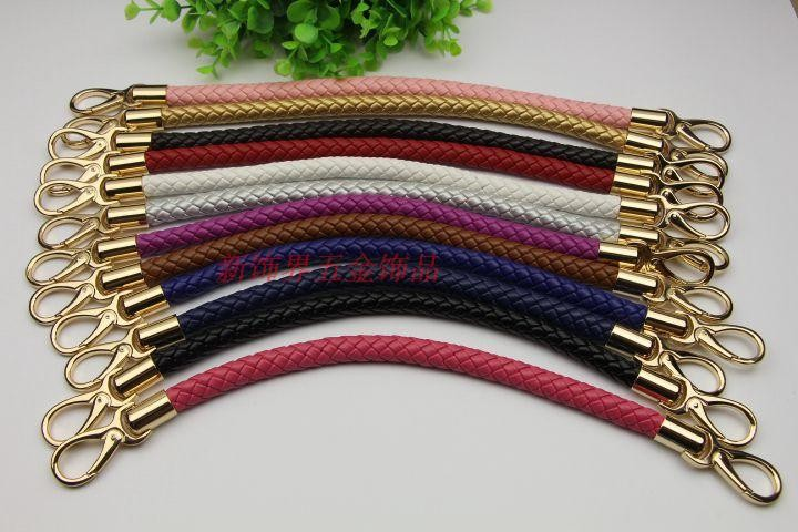 Free Shipping PU Weave Bag Strap Women Bag Pu Strap  Purse Accessories Purse Handle Chain Handbag Fashional Handle Bag Hardware