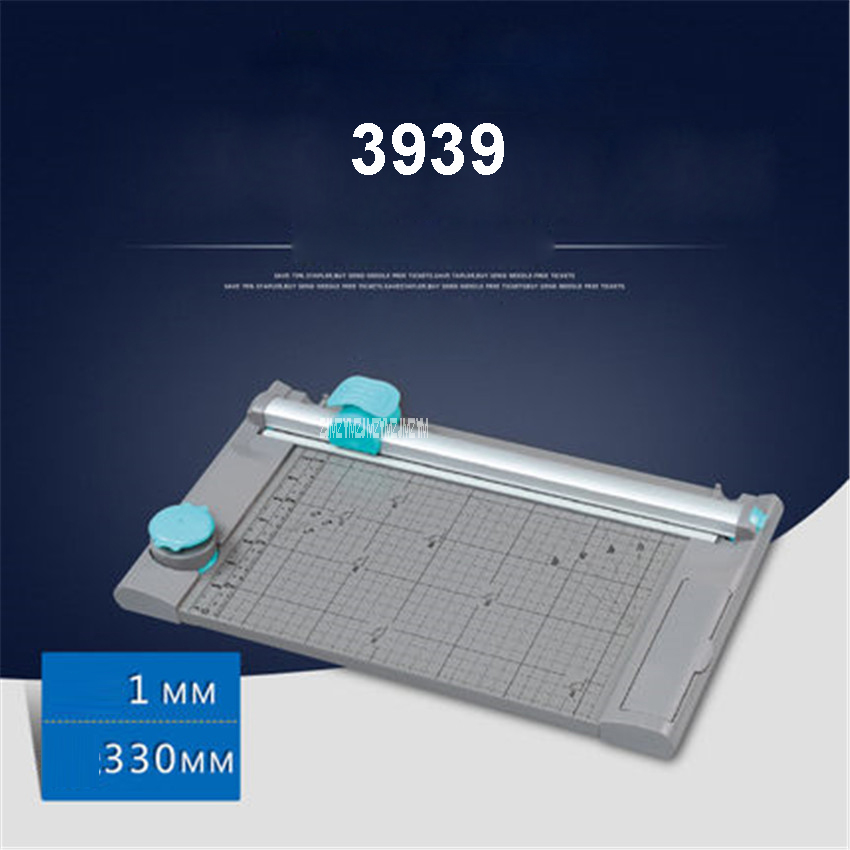 3939 Multi - function A4 manual cutter wave dashed paper cutter,Cutting length 330mm  ABS, aluminum alloy Material Paper Trimmer 2017 new manual rotary paper cutter trimmer 310mm 20sheets paper cutting and perforating double function new design