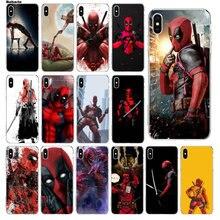 96dffbb076a Babaite Hero Deadpool funda de teléfono de lujo suave de goma transparente  para Apple iPhone 5 5S 6 6 S 7 8 Plus X XS X MAX SE X..