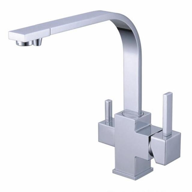 US $62.99 10% OFF|Aliexpress.com : Buy 2015 Dual Handle square Torneira  Cozinha Faucets Grifos Cocina Best Selling 3 In1 Kitchen Faucet Three Way  Tap ...