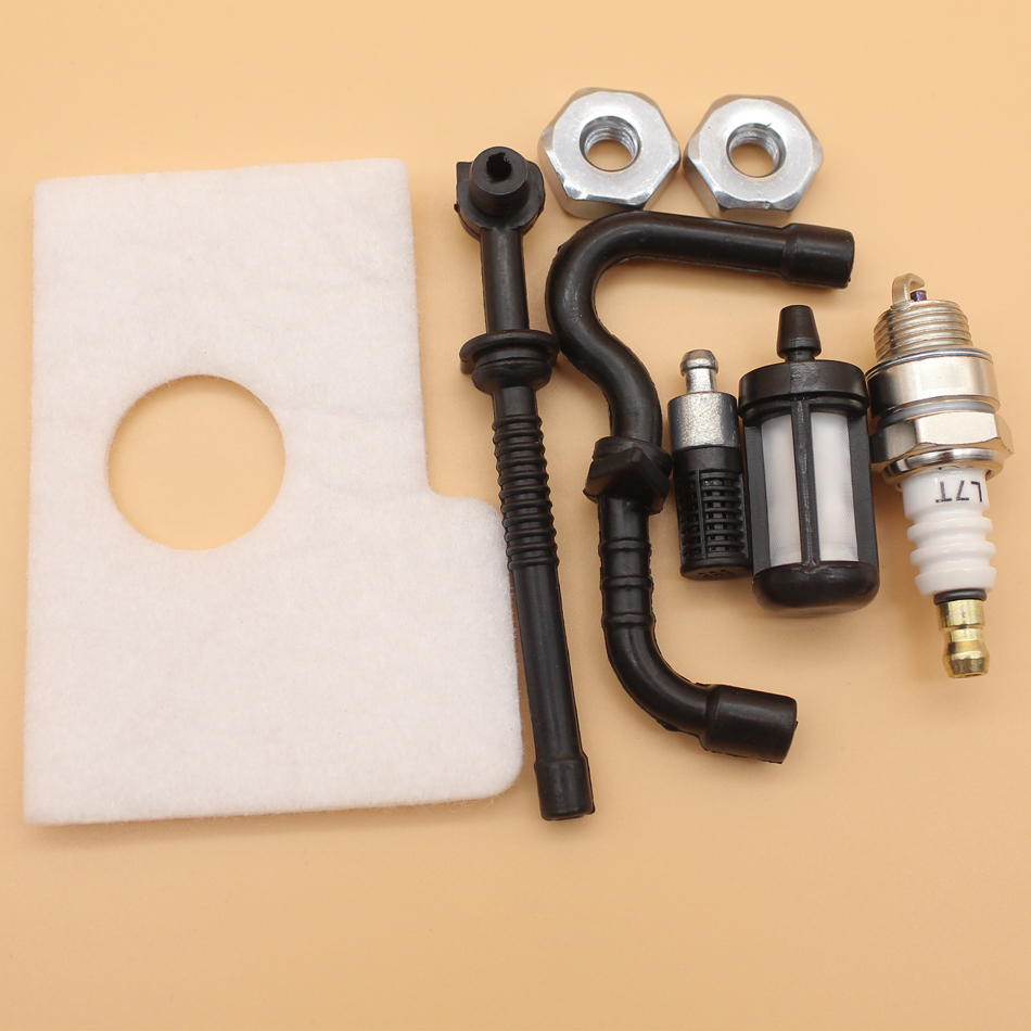 Fuel Oil Hose Air Filter Bar Nuts Kit For STIHL MS170 MS180 MS 170 180 017 018 Chainsaw Parts