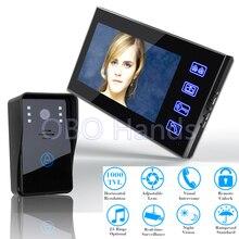 """Mejor 7 """"Color Video de la puerta Sistema de Intercomunicación Del Timbre del teléfono Táctil Botón de Desbloqueo A Distancia de Visión Nocturna de Seguridad CCTV Cámara 816A11"""